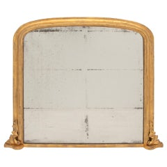 Antique Gilded Overmantle Mirror, circa 1860