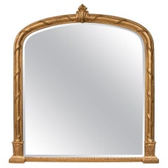 Antique Gilded Overmantle Wall Mirror