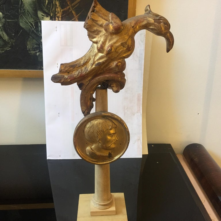 Antique Gilded Wood Sculptures Installation Sicily, circa 1900 For Sale 2