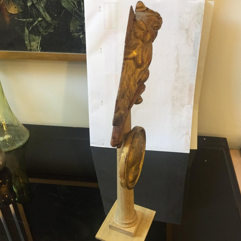 Antique Gilded Wood Sculptures Installation Sicily, circa 1900 For Sale 1