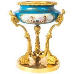 Antique Gilt Bronze and Sèvres Porcelain Centrepiece, 19th Century
