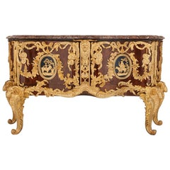Antique Gilt Bronze-Mounted Rosewood Commode after Gaudreau