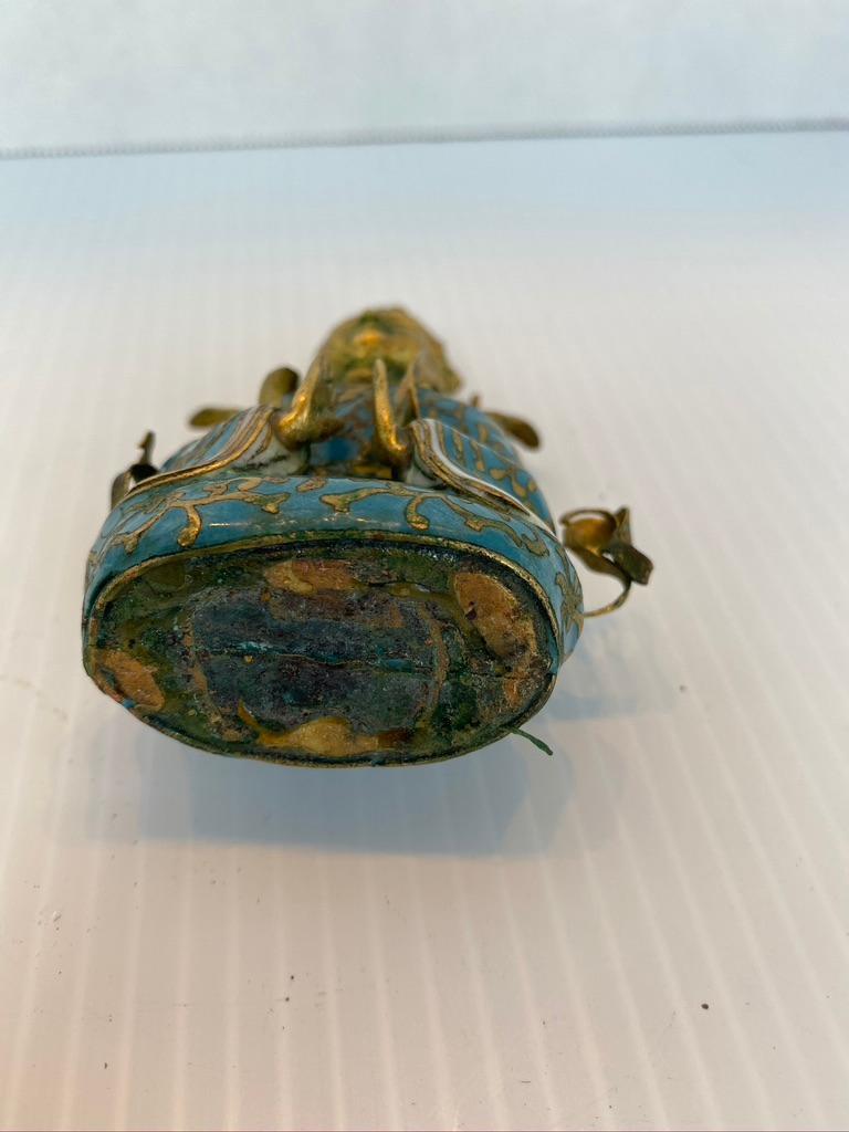 20th Century Antique Gilt Bronze Tibetan Buddha Figure For Sale