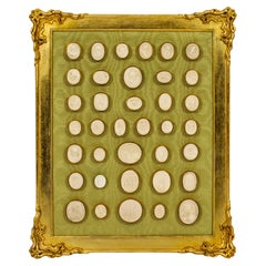 Antique Gilt framed Collection 36 Grand Tour Classical Intaglios, 19th C