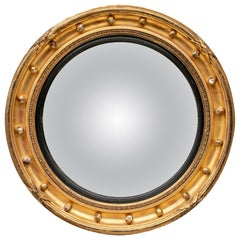 Antique Gilt Framed Convex Mirror