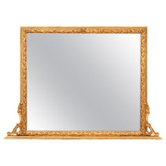 Antique Gilt Over Mantel Mirror