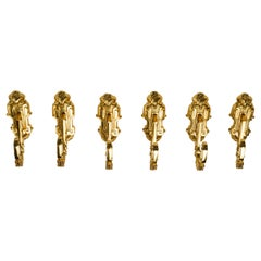 Antique Gilt  Curtain Supports or Tiebacks