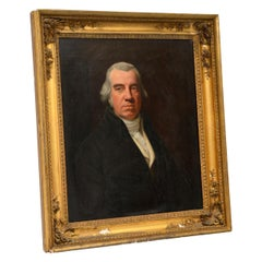 Antique Giltwood Framed Oil Painting Portrait