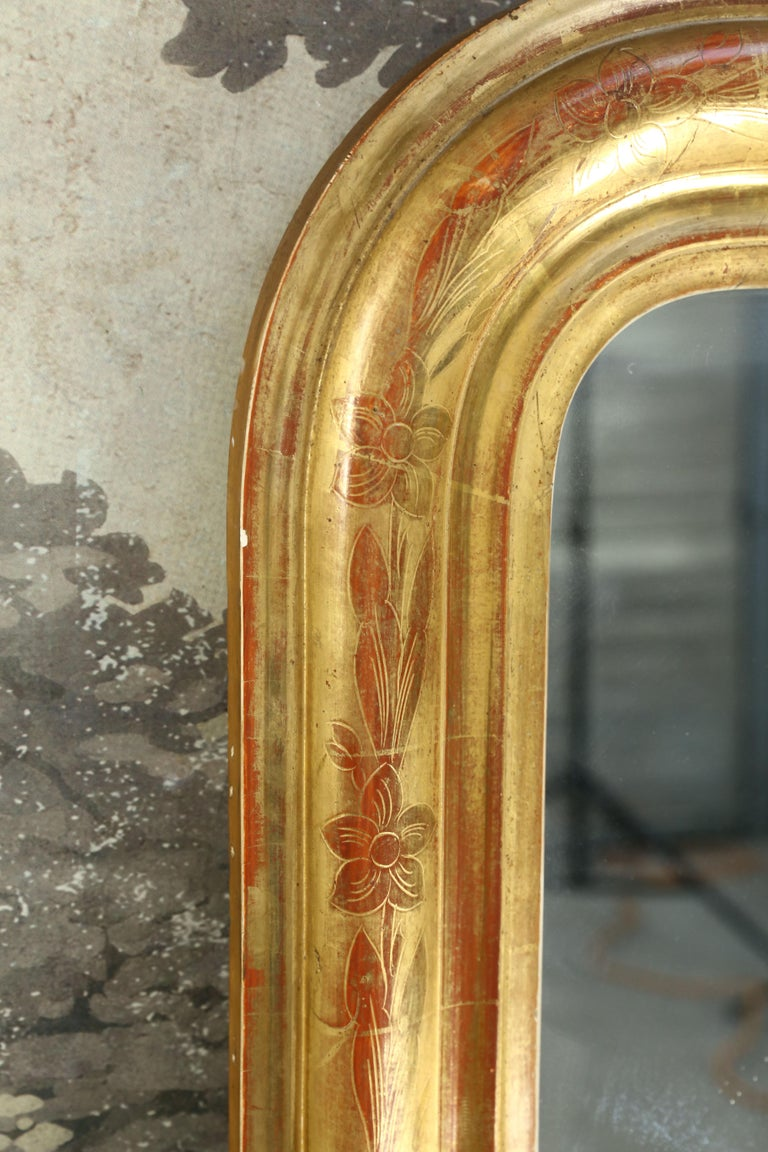 French Antique Giltwood Louis Philippe Mirror from France