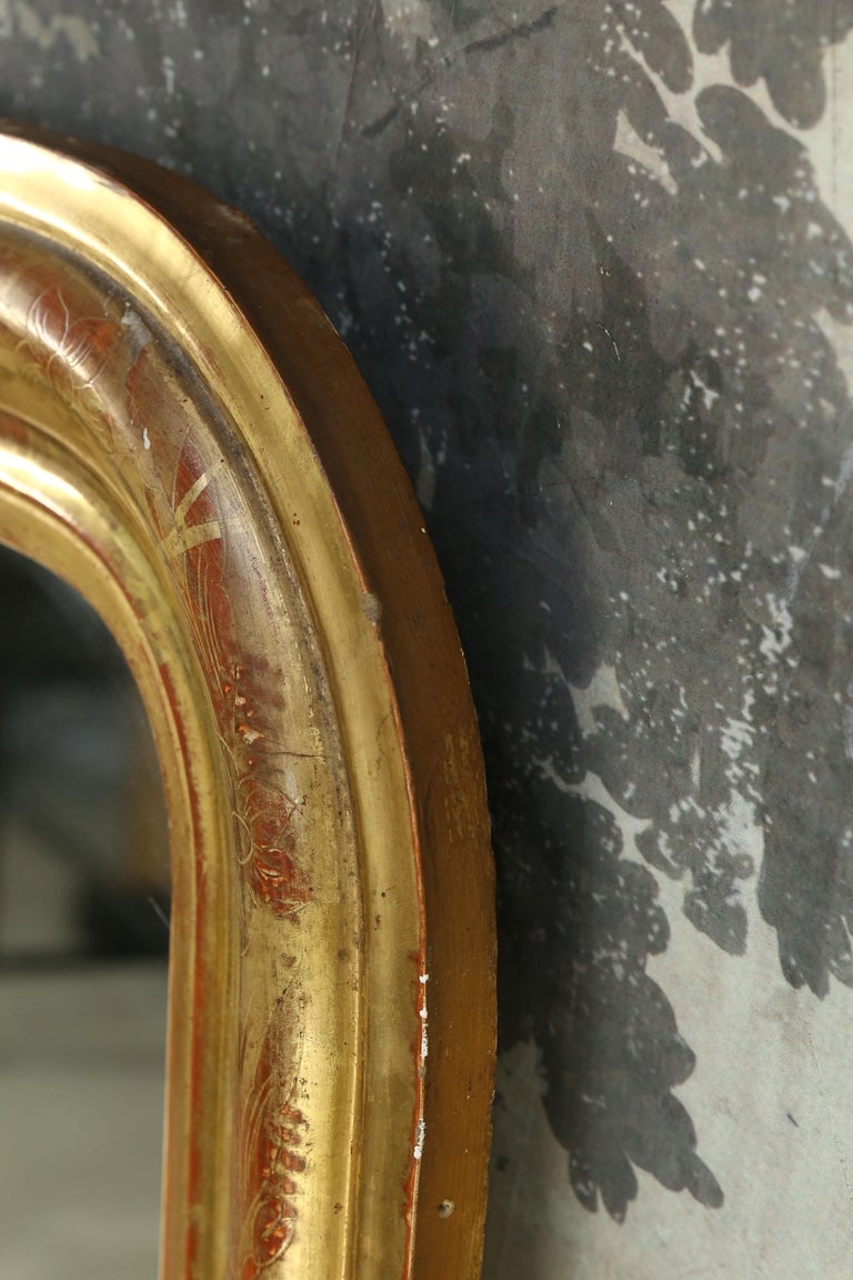 Antique Giltwood Louis Philippe Mirror from France 2