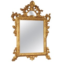 Antique Giltwood Mirror from Venice, Italy, Circa 1730