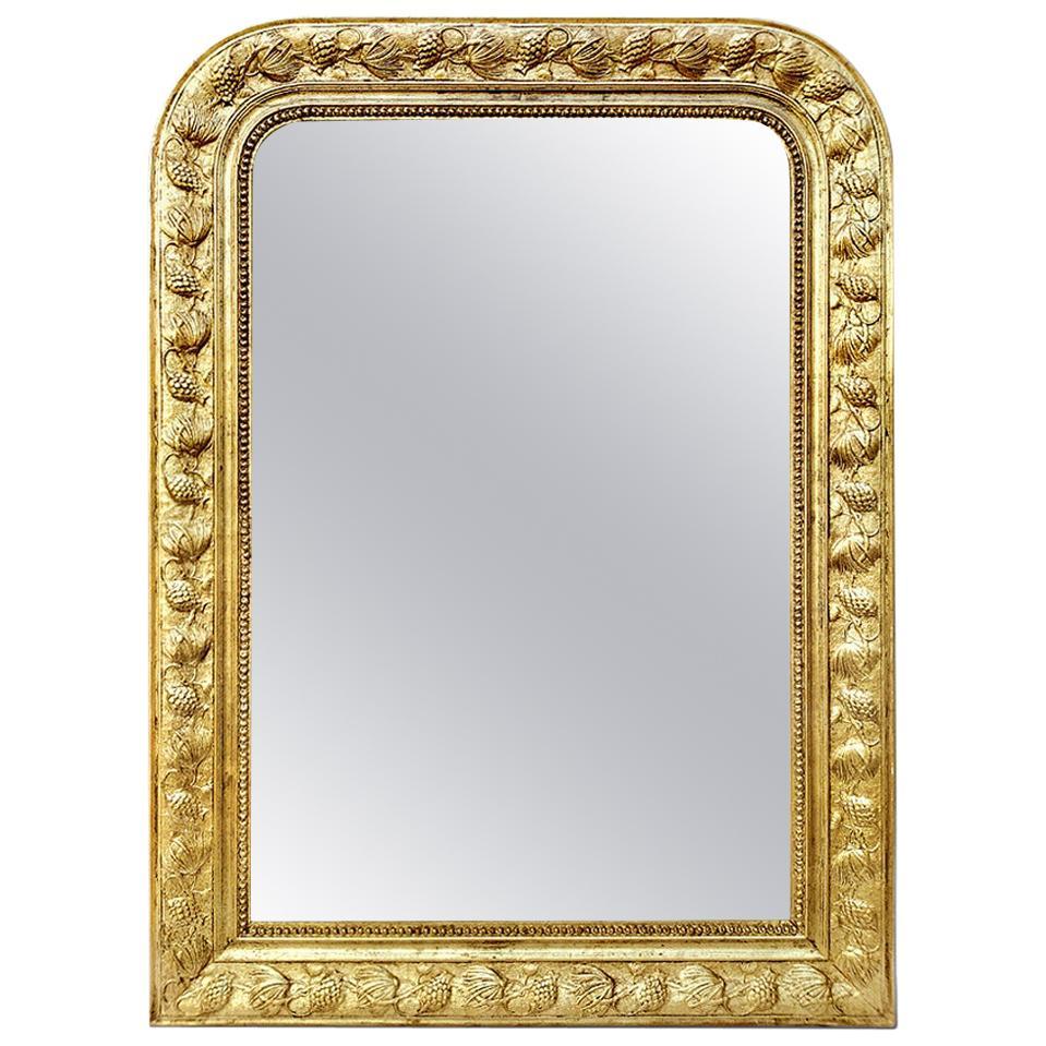 Antique Giltwood Mirror Louis-Philippe Style, circa 1930