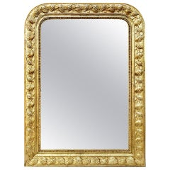 Antique Giltwood Mirror Louis-Philippe Style, circa 1930