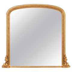 Antique Giltwood Overmantle Mirror, circa 1870