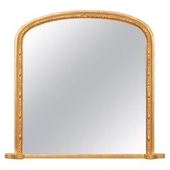 Antique Giltwood Overmantle Mirror, circa 1875