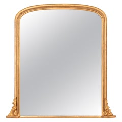 Antique Giltwood Overmantle Mirror, circa 1880