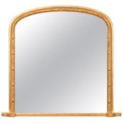 Antique Giltwood Overmantle Mirror, circa 1875