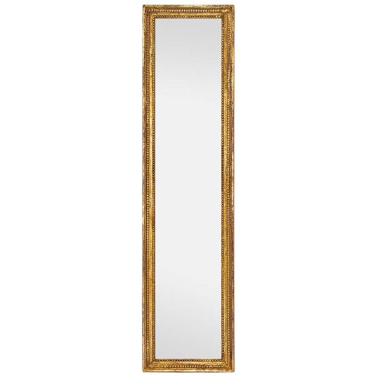 Antique Giltwood Wall Mirror, Louis XVI Style, circa 1900 For Sale