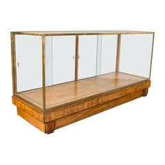 Antique Glass Shopfitting Cabinet, English, Bronze, Retail, Display, Victorian