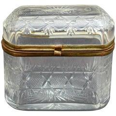Antique Glass Trinket Box