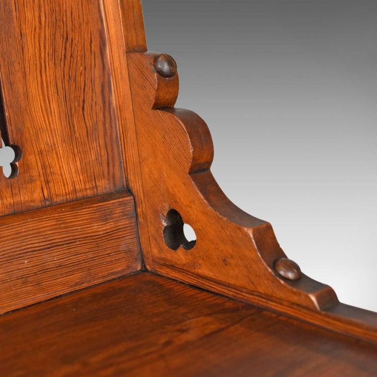 Pine Antique Glastonbury Chair, English, Tudor Revival, Hall Seat, circa 1880 For Sale