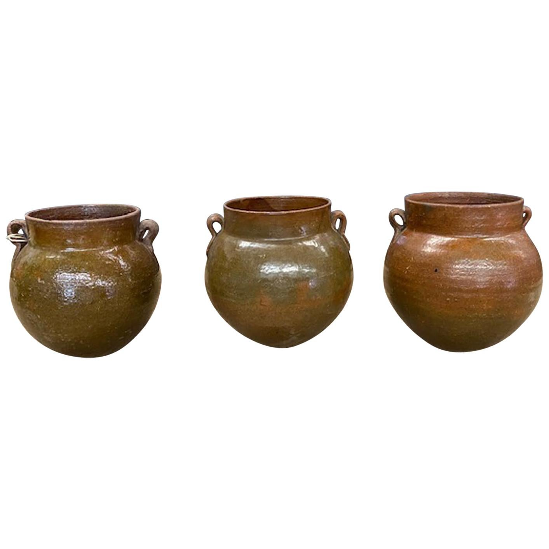 Antique Glazed Ceramic Jars