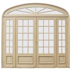 Antique Glazed French Room Divider