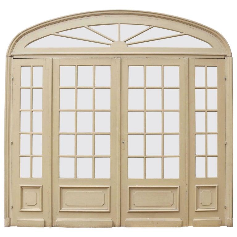 Antique Glazed French Room Divider For Sale At 1stdibs