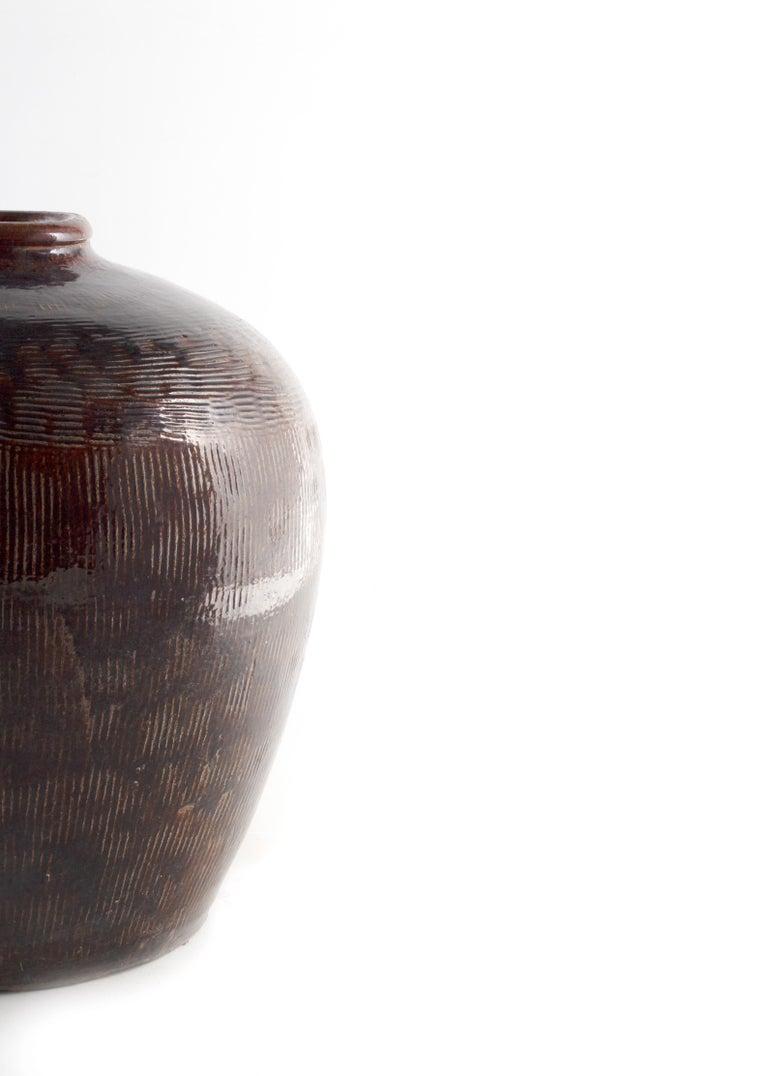 European Antique Glazed Storage Jar For Sale