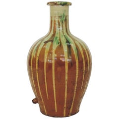 Antique Glazed Terracotta Jar, Italy, 1900s