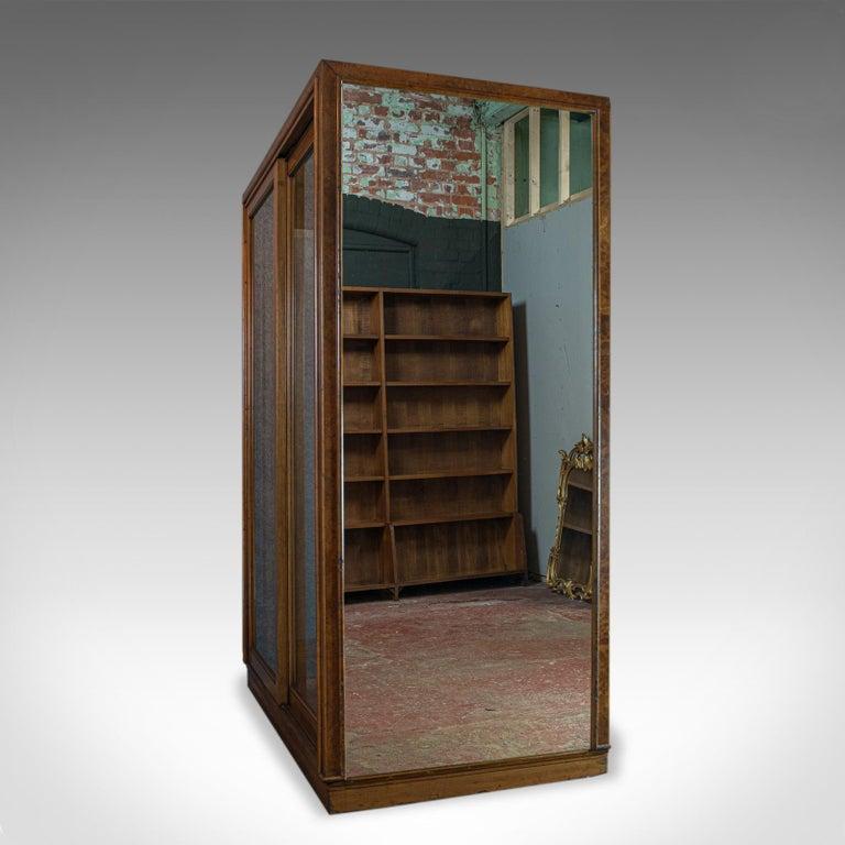 Antique Glazed Wardrobe Cabinet, Oak, Retail Shop Fitting, Display, circa 1900 In Good Condition For Sale In Hele, Devon, GB