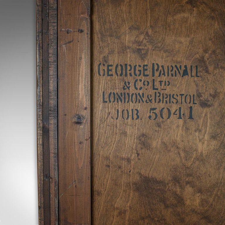 19th Century Antique Glazed Wardrobe Cabinet, Oak, Retail Shop Fitting, Display, circa 1900 For Sale