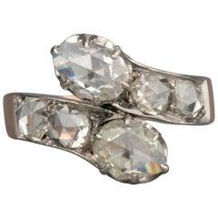 Antique Gold and 1.80 Carat Rose Cut Diamonds Ring