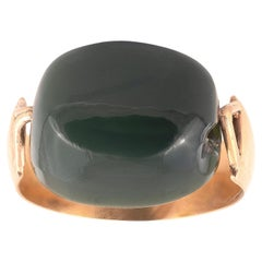 Antique Gold and Bloodstone Intaglio Ring