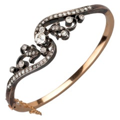 Antique Gold and Diamonds French Bracelet