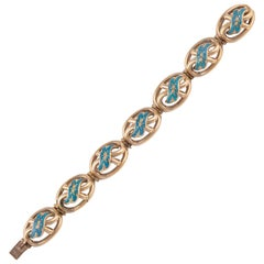 Antique Gold and Enamel Bracelet