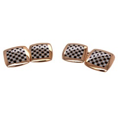 Antique Gold and Enamel Cufflinks