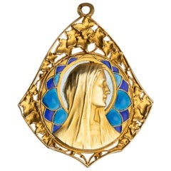 Antique Gold and Enamel French Medal by PL DASSET