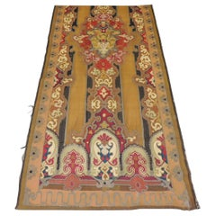 Antique Gold and Red Aubusson Tapestry