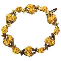 Antique Gold Art Nouveau Bracelet