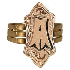 Antique Gold Bourbon Seal Ring, Circa 1860, Italy