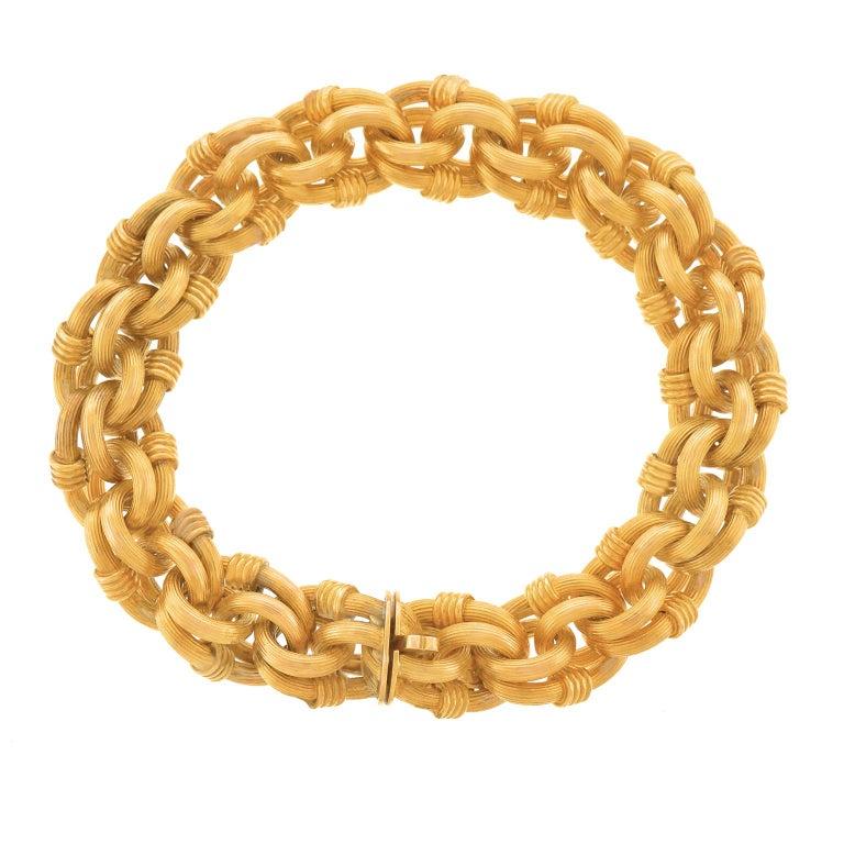 Antique Gold Bracelet French For Sale 5