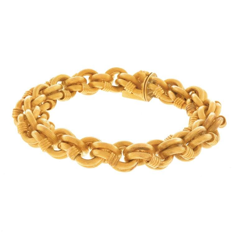 Victorian Antique Gold Bracelet French For Sale