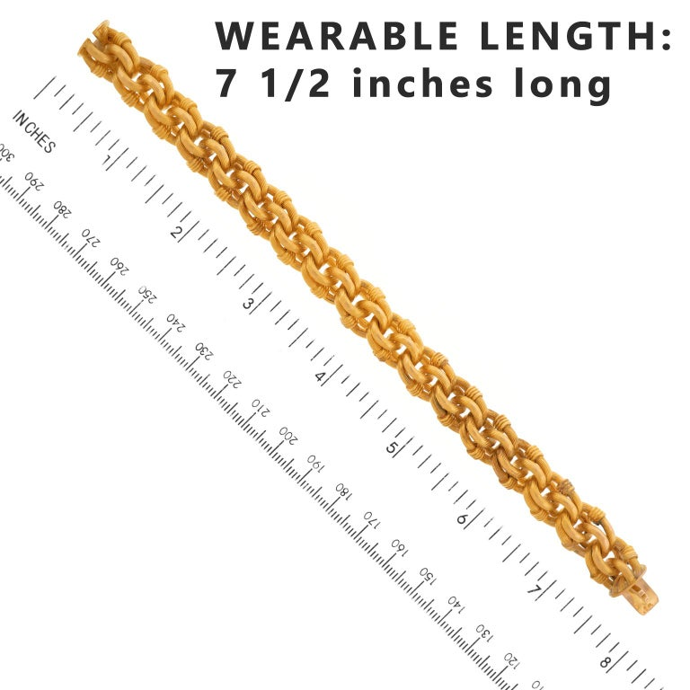 Antique Gold Bracelet French For Sale 1