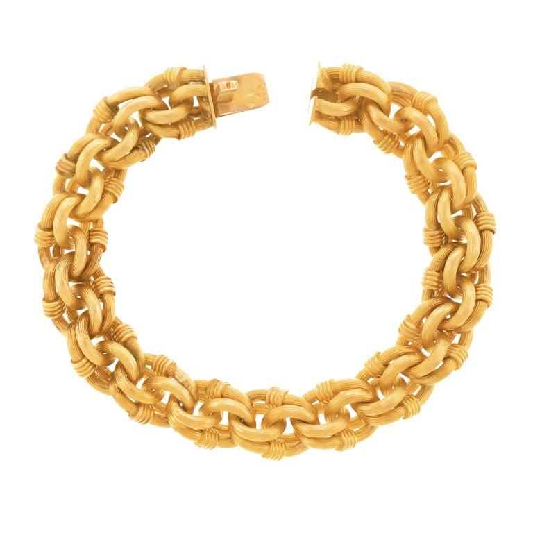 Antique Gold Bracelet French For Sale 2
