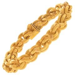 Antique Gold Bracelet French