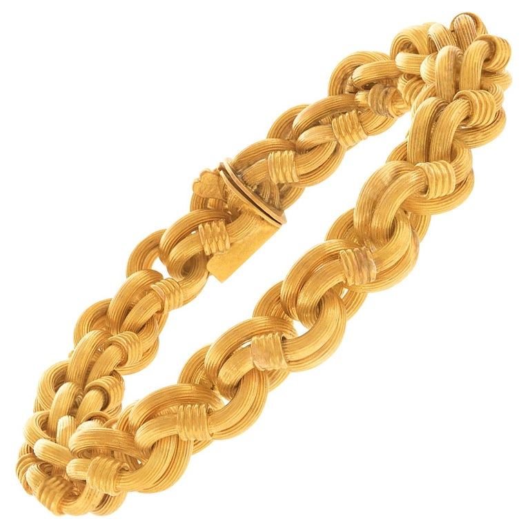 Antique Gold Bracelet French For Sale
