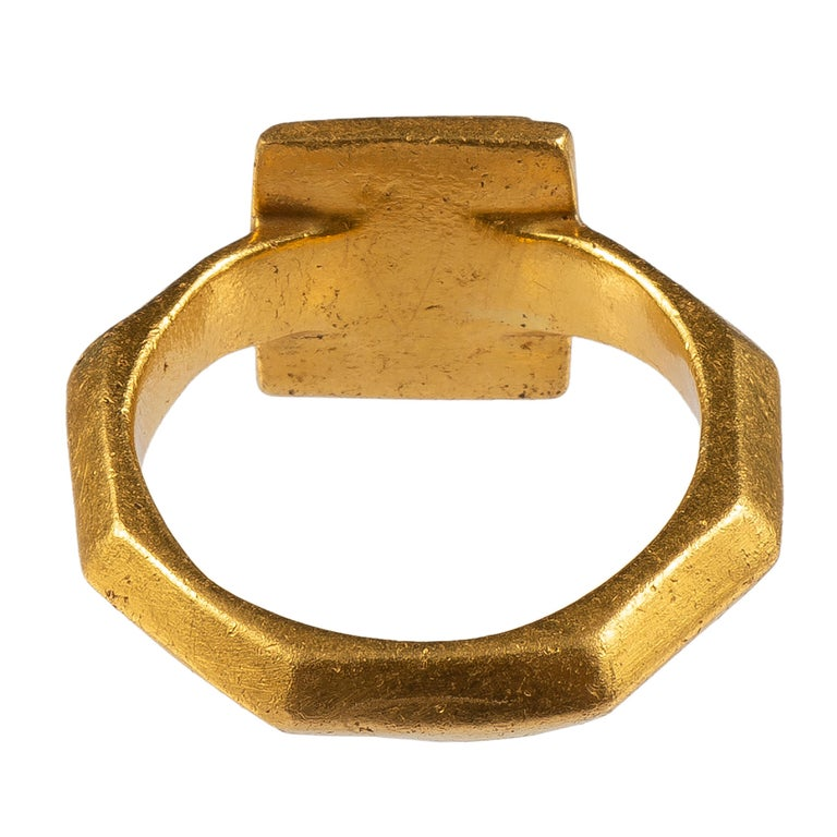 Women's or Men's Antique Gold Byzantine Marriage Ring For Sale