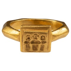 Antique Gold Byzantine Marriage Ring