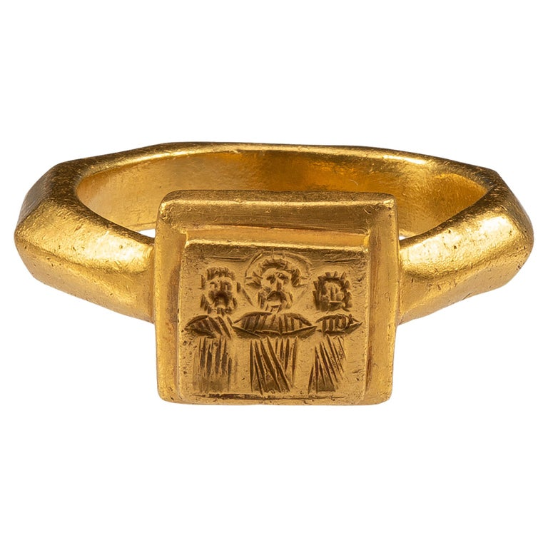 Antique Gold Byzantine Marriage Ring For Sale